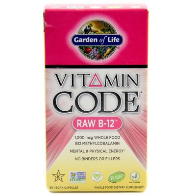 VITAMIN CODE RAW B12, 30k, 1000mcg, Garden of Life