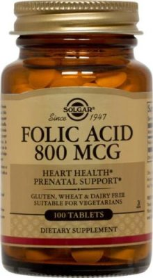 Folic acid 800mcg 100tab