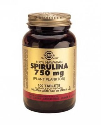 Spirulina 750mg tabletter, Solgar