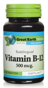 b12 sublingual great earth