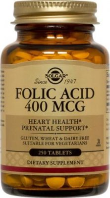 Folic acid 400mcg 100tab